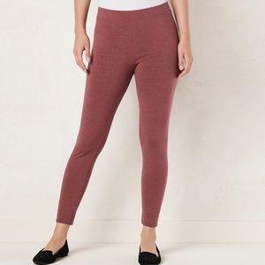 LC Lauren Conrad rust leggings S NWT
